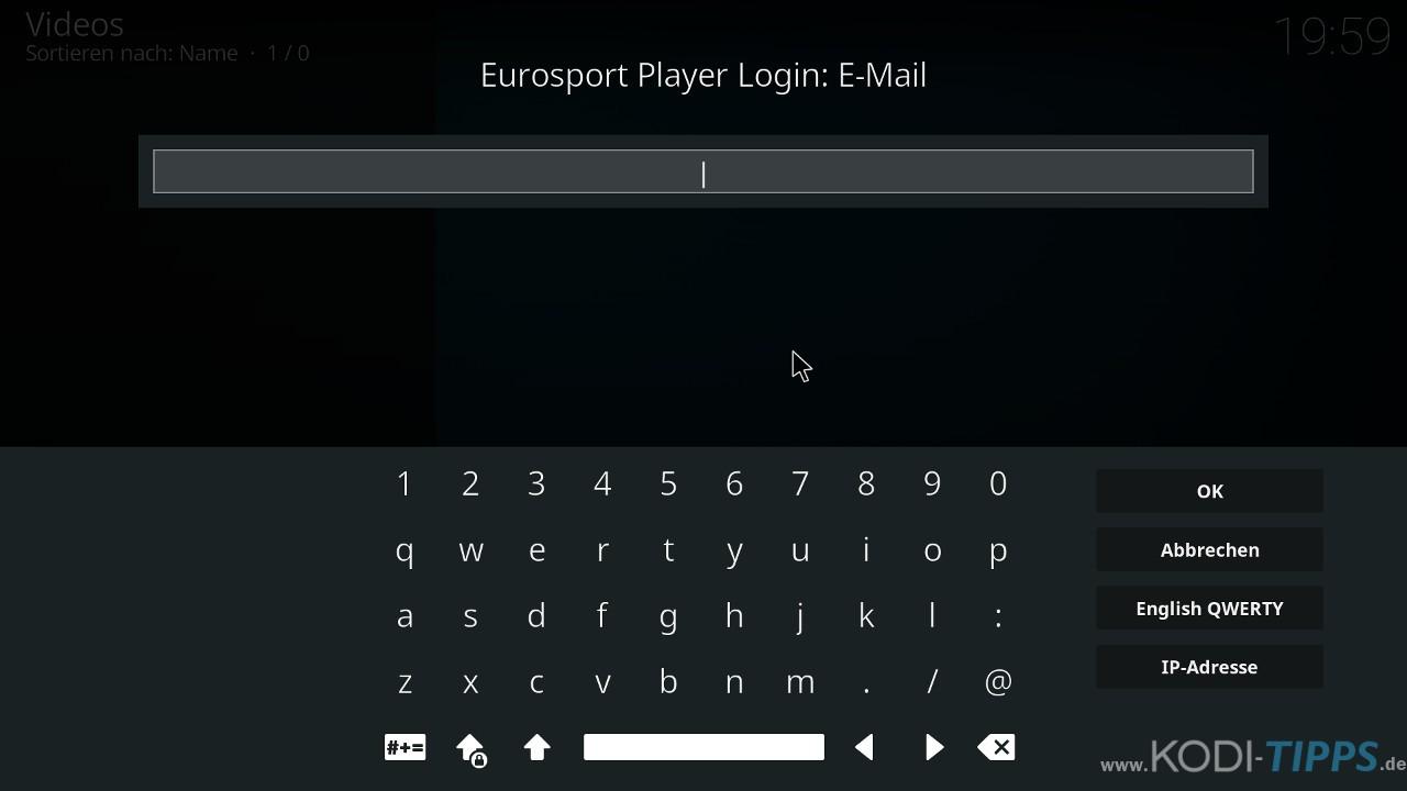 Eurosport Player Kodi Addon installieren - Schritt 10