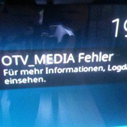 OTV_MEDIA Fehler - OTV Kodi Addon Fehlermeldung beheben