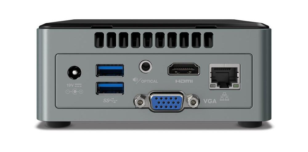 Hardware-Test: Intel NUC6CAYH / NUC6CAYS Mini-PC - Rückseite
