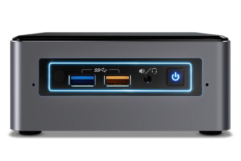 Hardware-Test: Intel NUC6CAYH / NUC6CAYS Mini-PC - Vorderseite