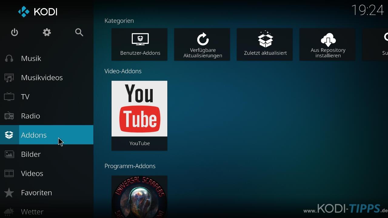 Spiele der FIFA WM 2018 in 4K Ultra HD über Kodi - Schritt 1