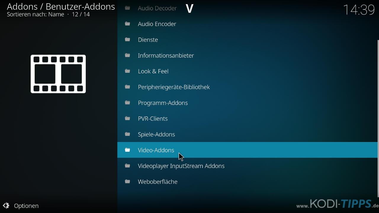 Bucky Movies Kodi Addon herunterladen & installieren - Schritt 7
