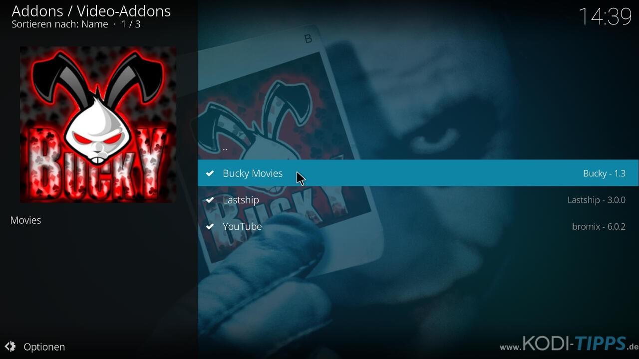 Bucky Movies Kodi Addon herunterladen & installieren - Schritt 8