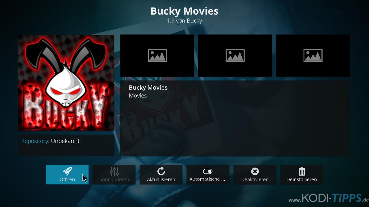 Bucky Movies Kodi Addon herunterladen & installieren - Schritt 9