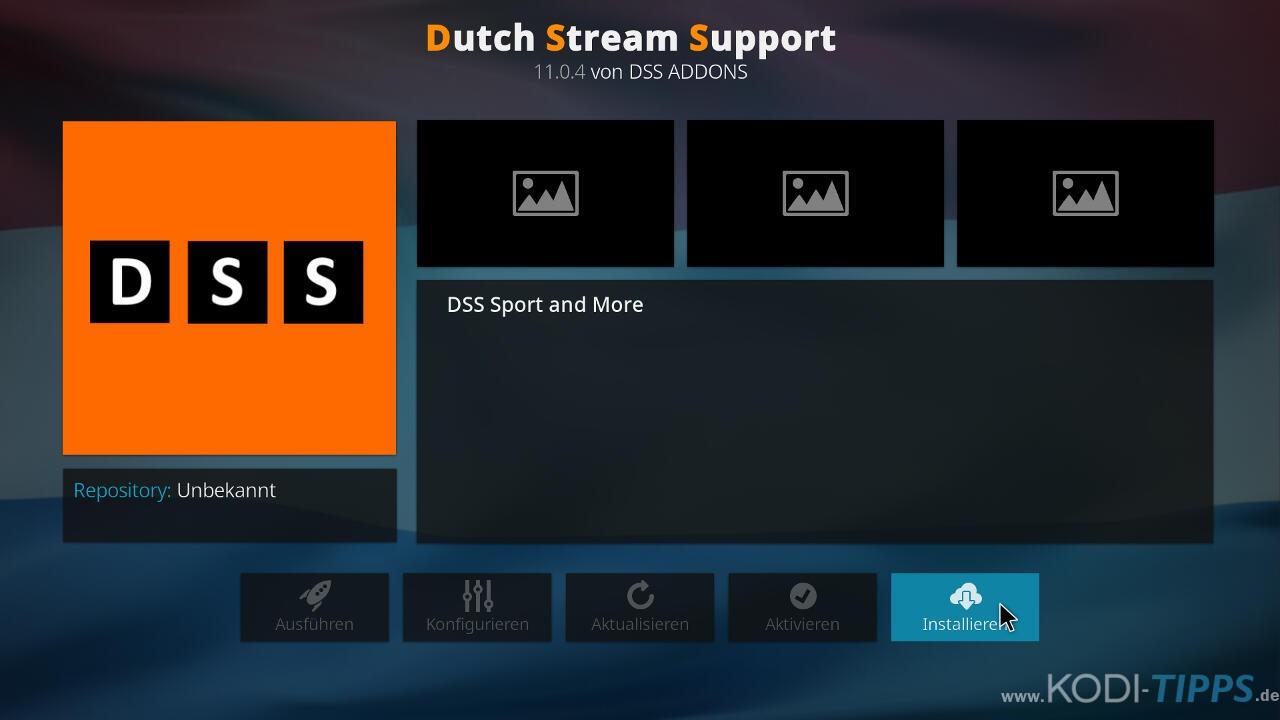 Dutch Sport Streams Kodi Addon (DSS) installieren - Schritt 8