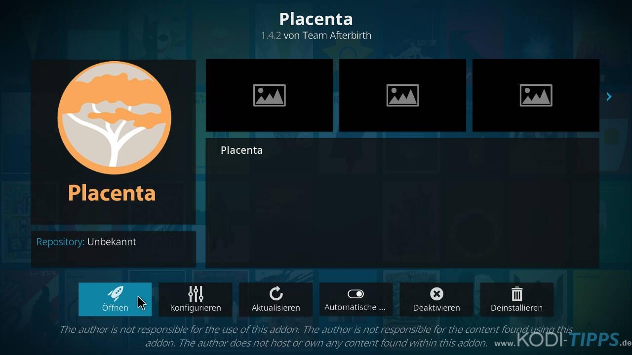Placenta Kodi Addon installieren - Schritt 10
