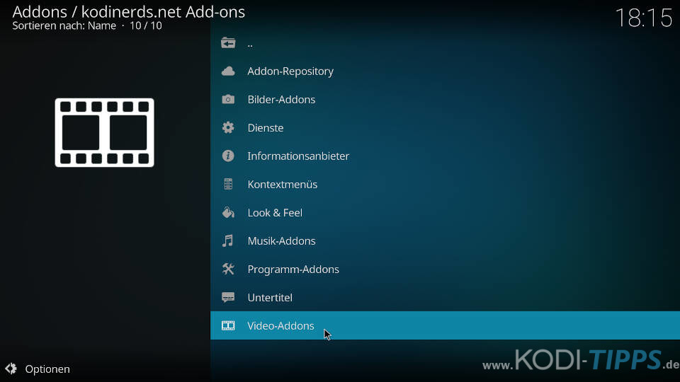 Mediathek Direkt Kodi Addon installieren - Schritt 1