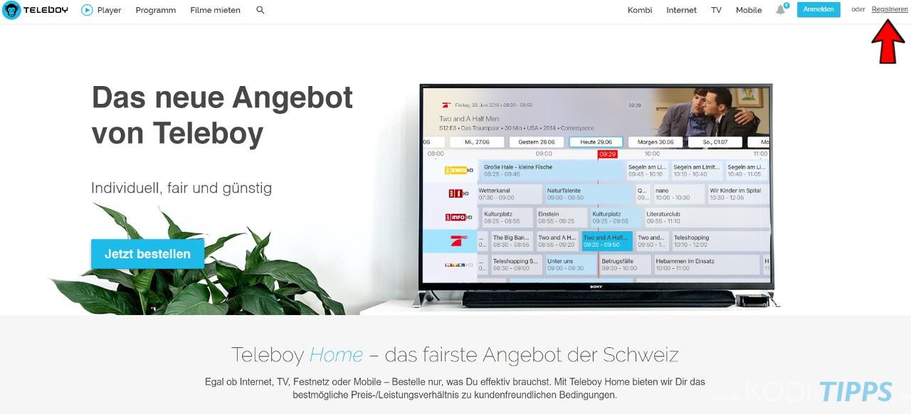 Teleboy Kodi Addon herunterladen & installieren - Schritt 2