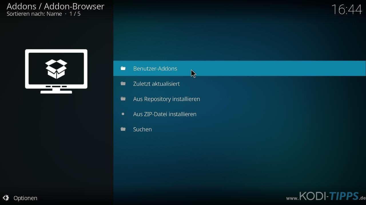 Teleboy Kodi Addon herunterladen & installieren - Schritt 8