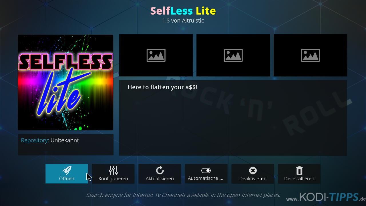 Selfless Lite Kodi Addon installieren - Schritt 10
