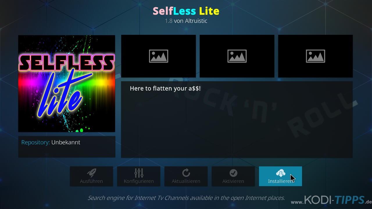 Selfless Lite Kodi Addon installieren - Schritt 8