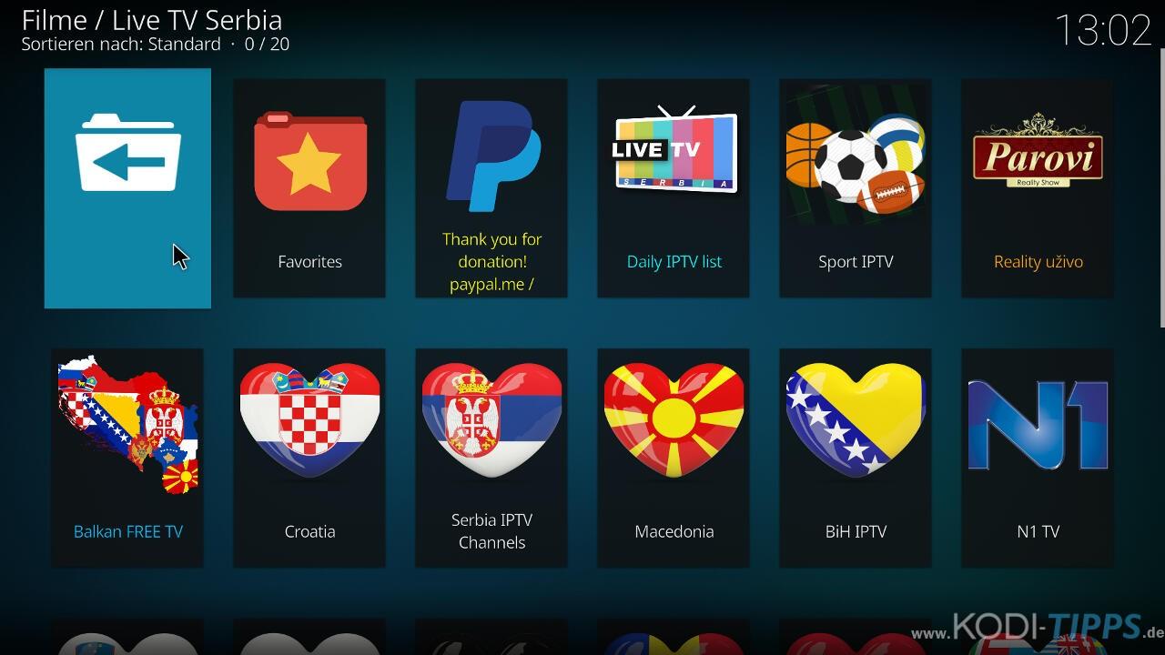 Live TV Serbia Kodi Addon installieren - Schritt 12