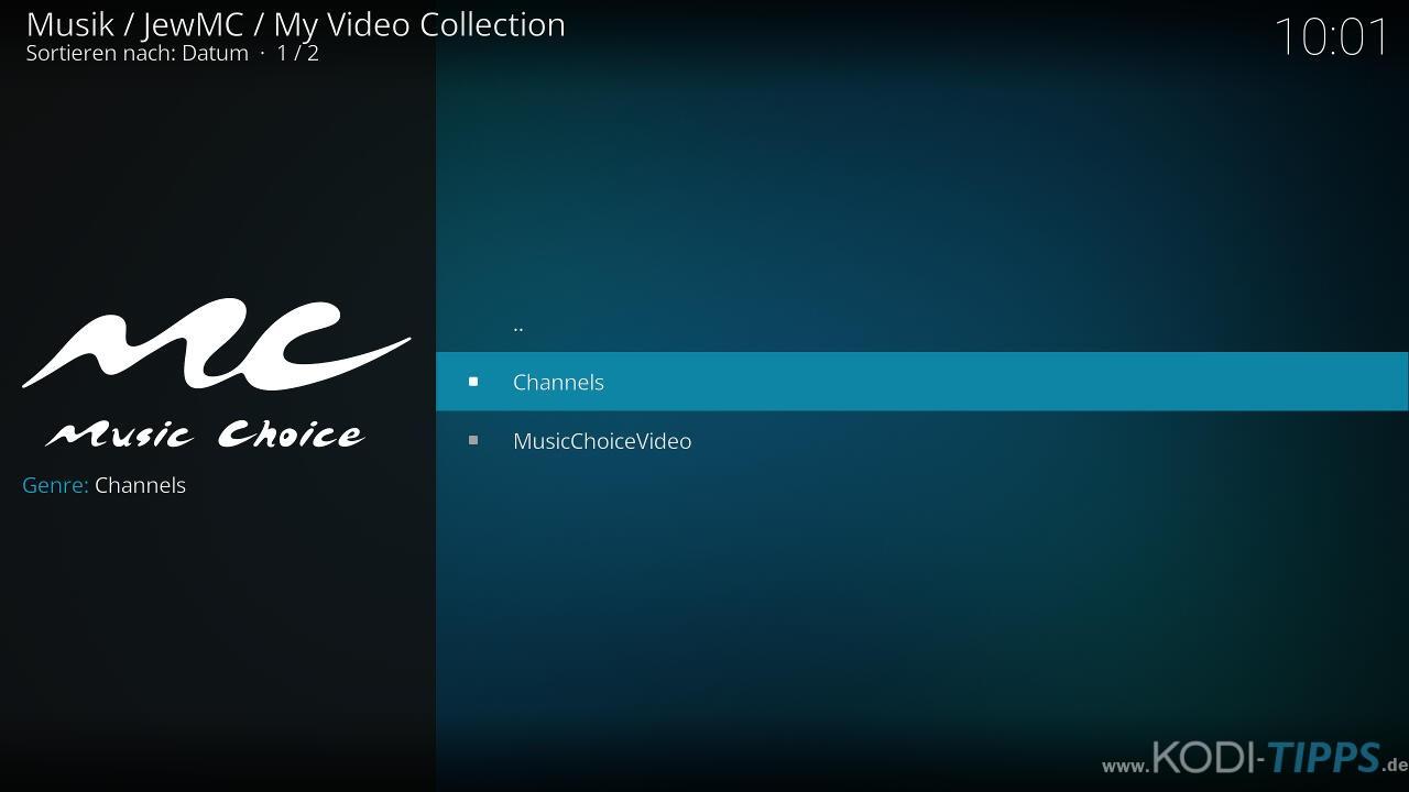 Music Choice Kodi Addon installieren - Schritt 11