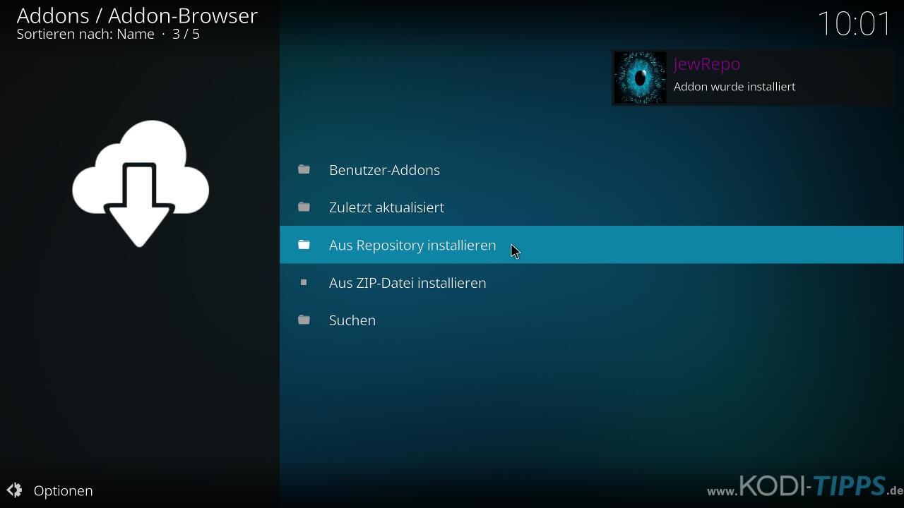 Music Choice Kodi Addon installieren - Schritt 3