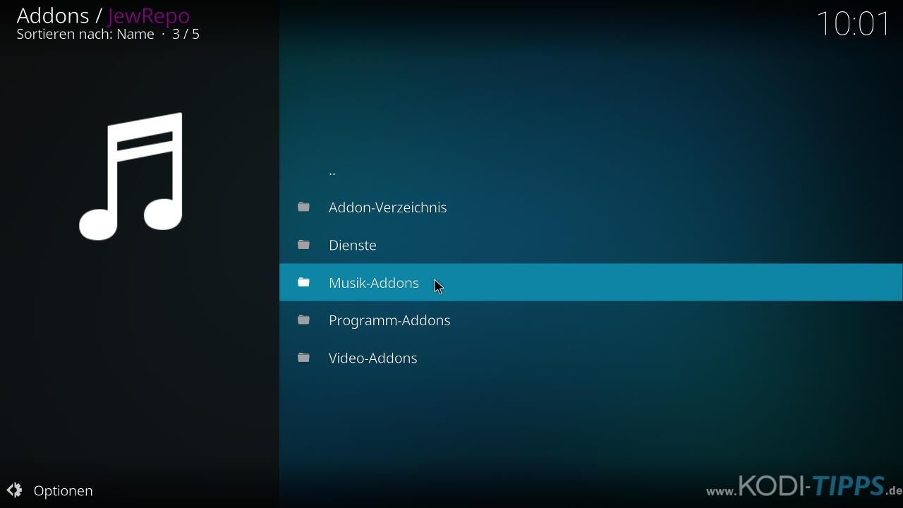 Music Choice Kodi Addon installieren - Schritt 6