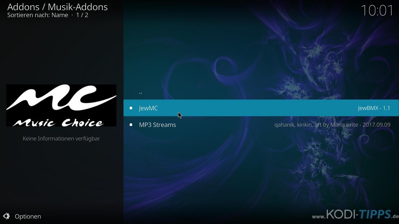 Music Choice Kodi Addon installieren - Schritt 7
