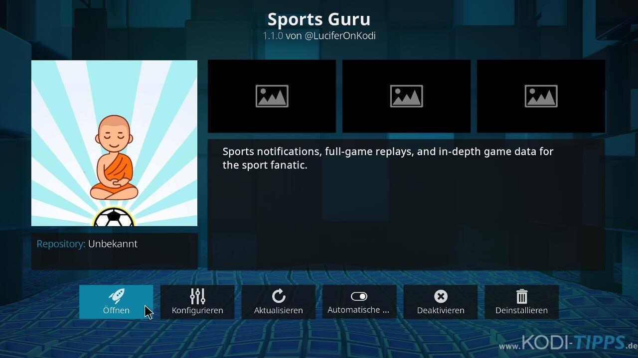Sports Guru Kodi Addon installieren - Schritt 10