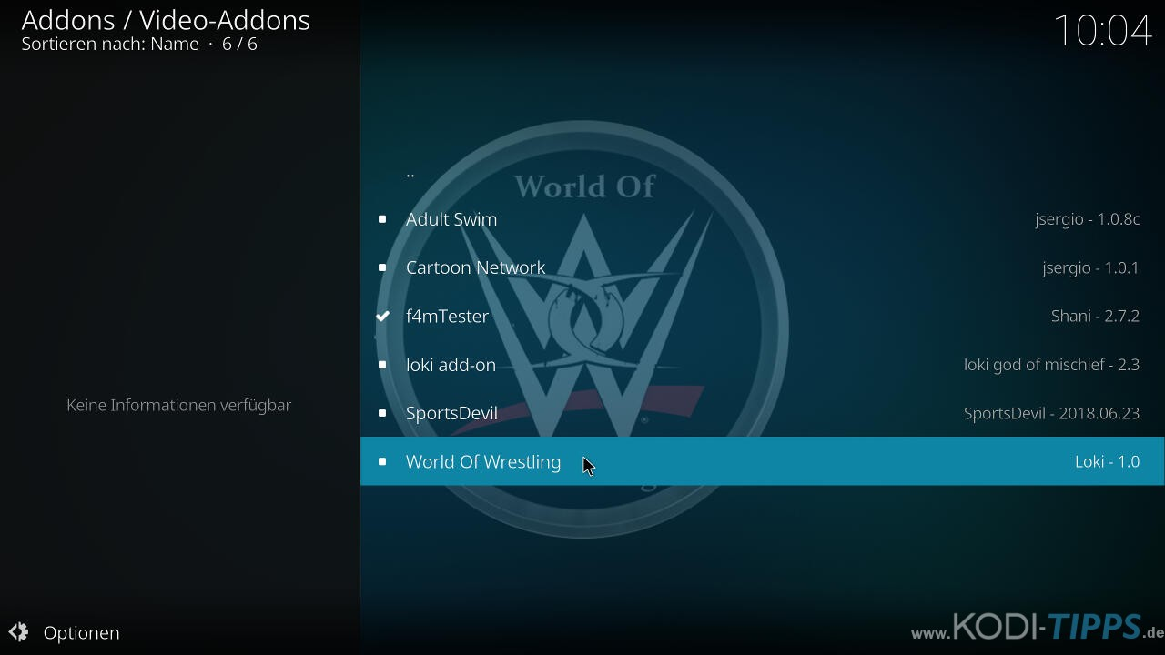 World of Wrestling Kodi Addon installieren - Schritt 7