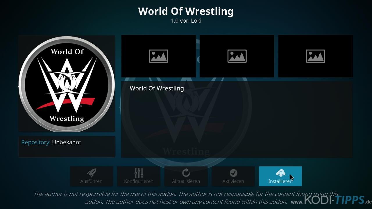 World of Wrestling Kodi Addon installieren - Schritt 8