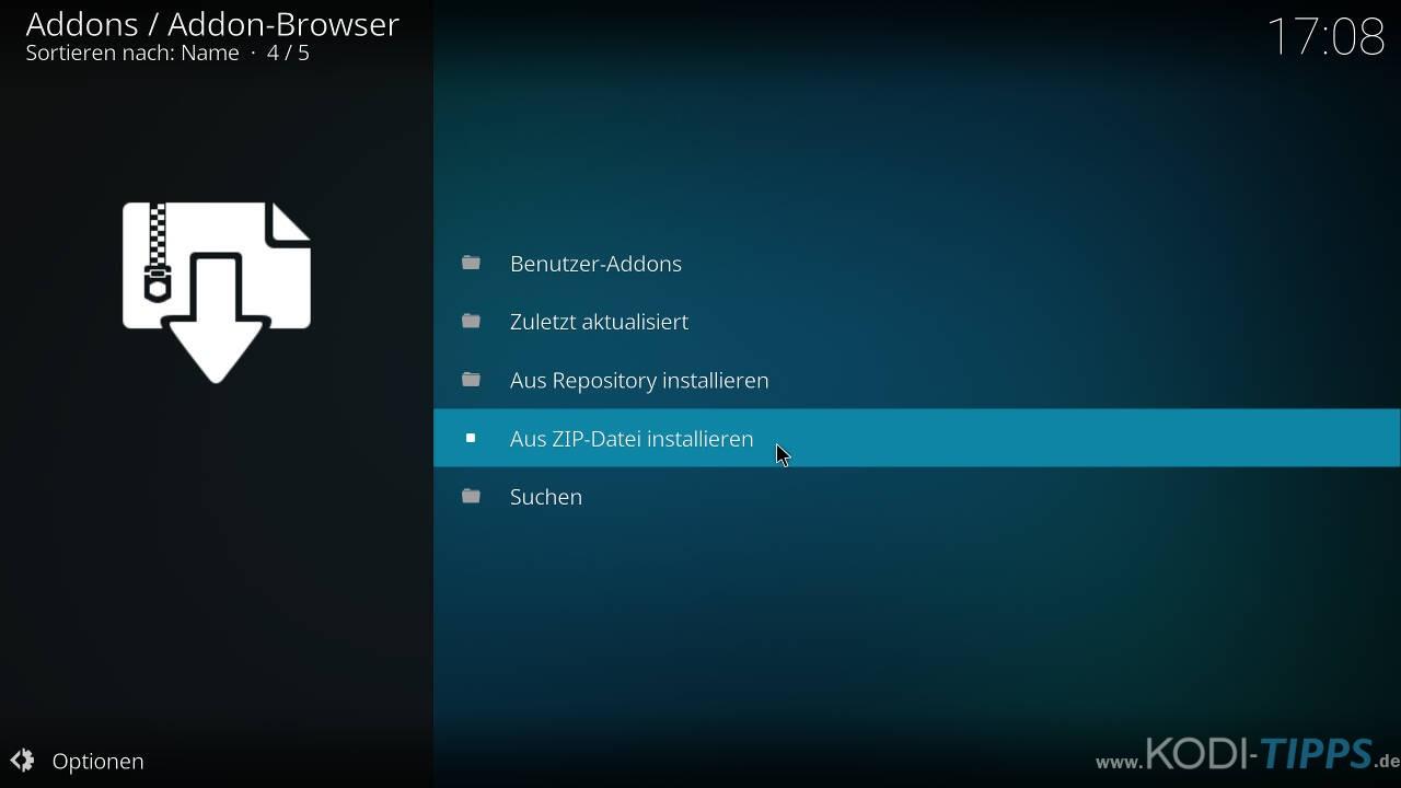 CyberGhost in Kodi installieren und einrichten - Schritt 1