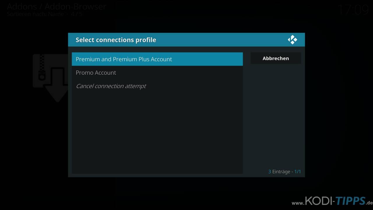 CyberGhost in Kodi installieren und einrichten - Schritt 13