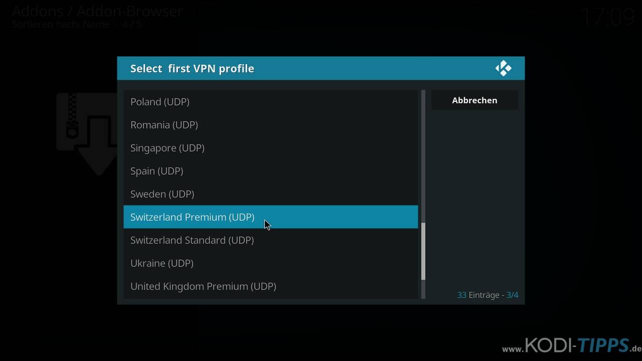 CyberGhost in Kodi installieren und einrichten - Schritt 15