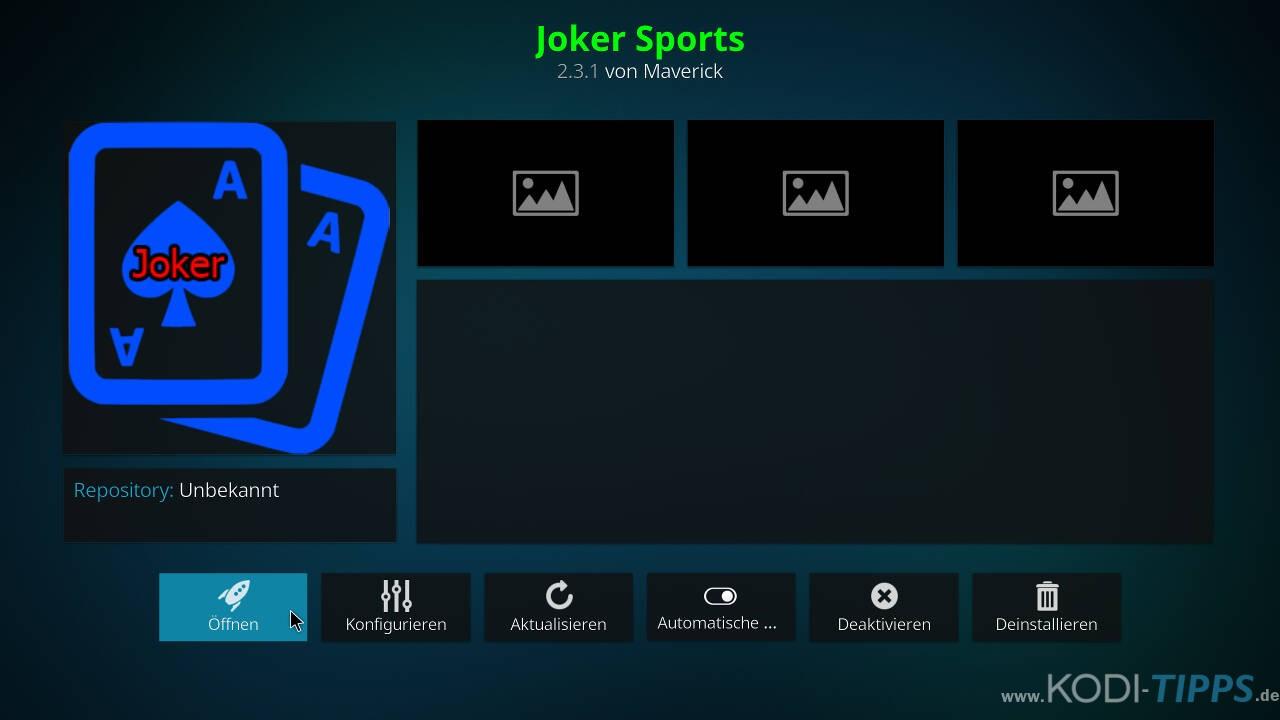 Joker Sports Kodi Addon installieren - Schritt 10