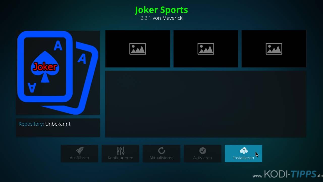 Joker Sports Kodi Addon installieren - Schritt 8