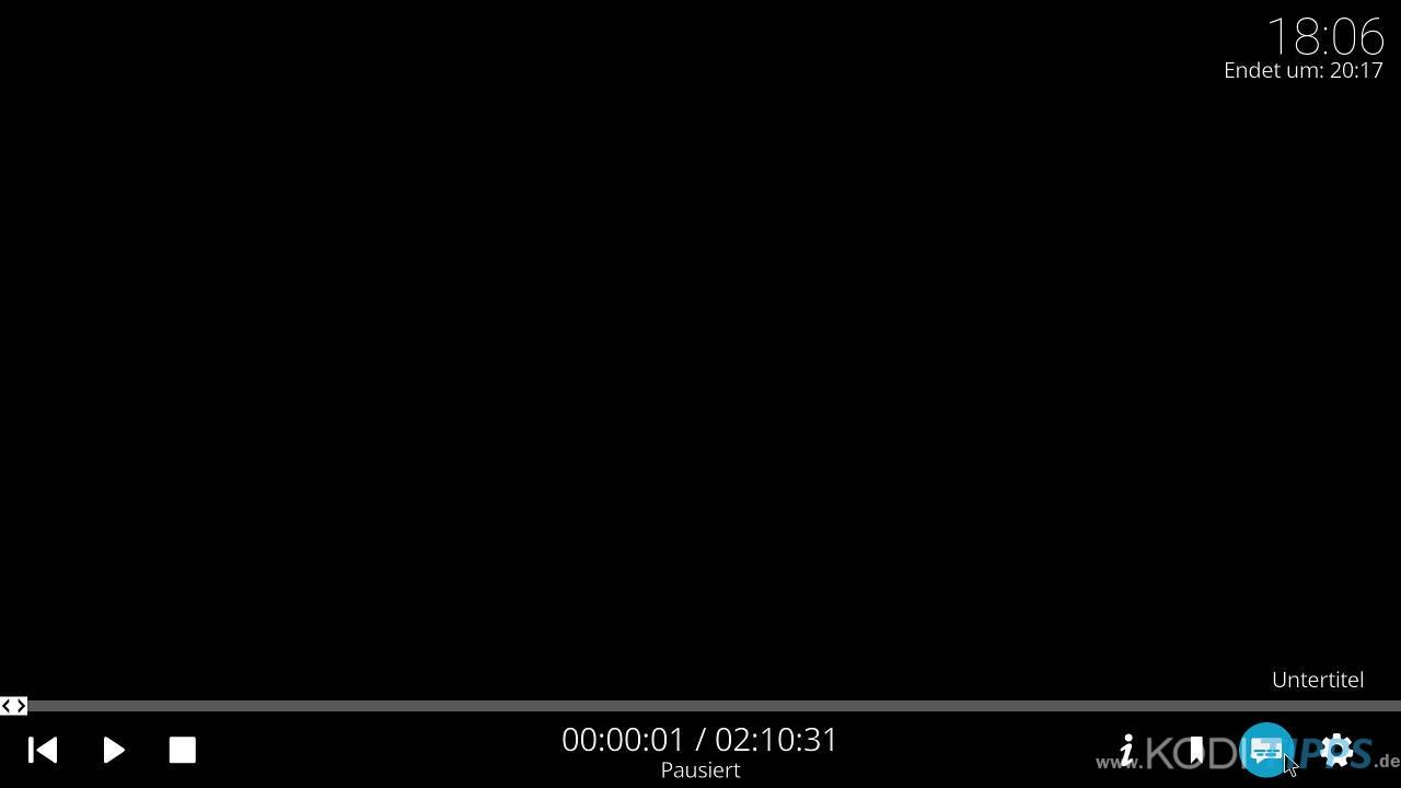 Untertitel in Kodi suchen und anzeigen - Schritt 1