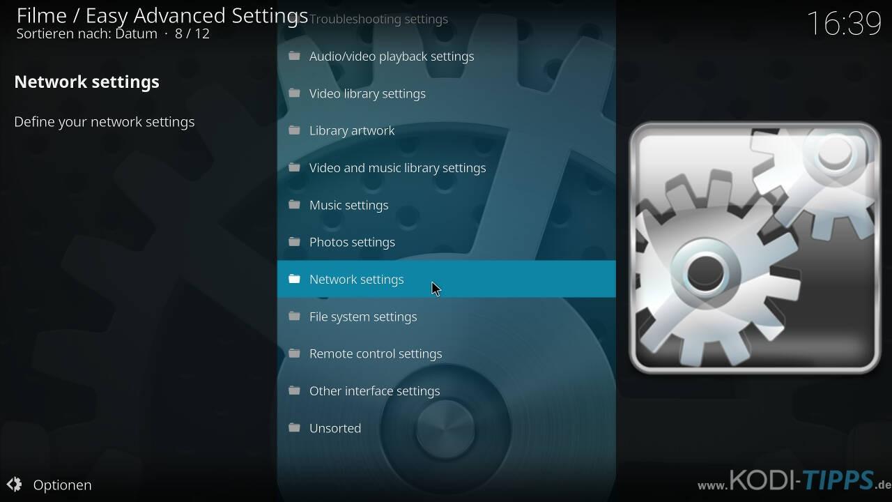 Kodi Cache mit den Easy Advanced Settings anpassen - Schritt 6