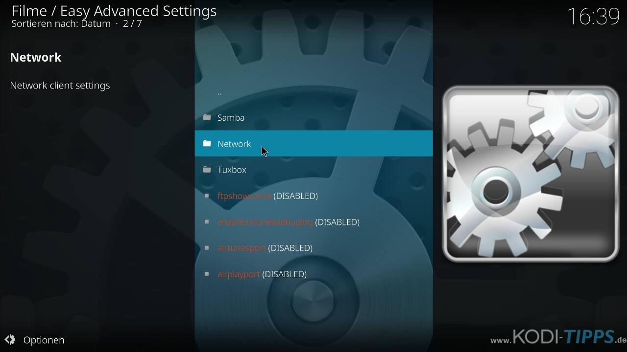 Kodi Cache mit den Easy Advanced Settings anpassen - Schritt 7