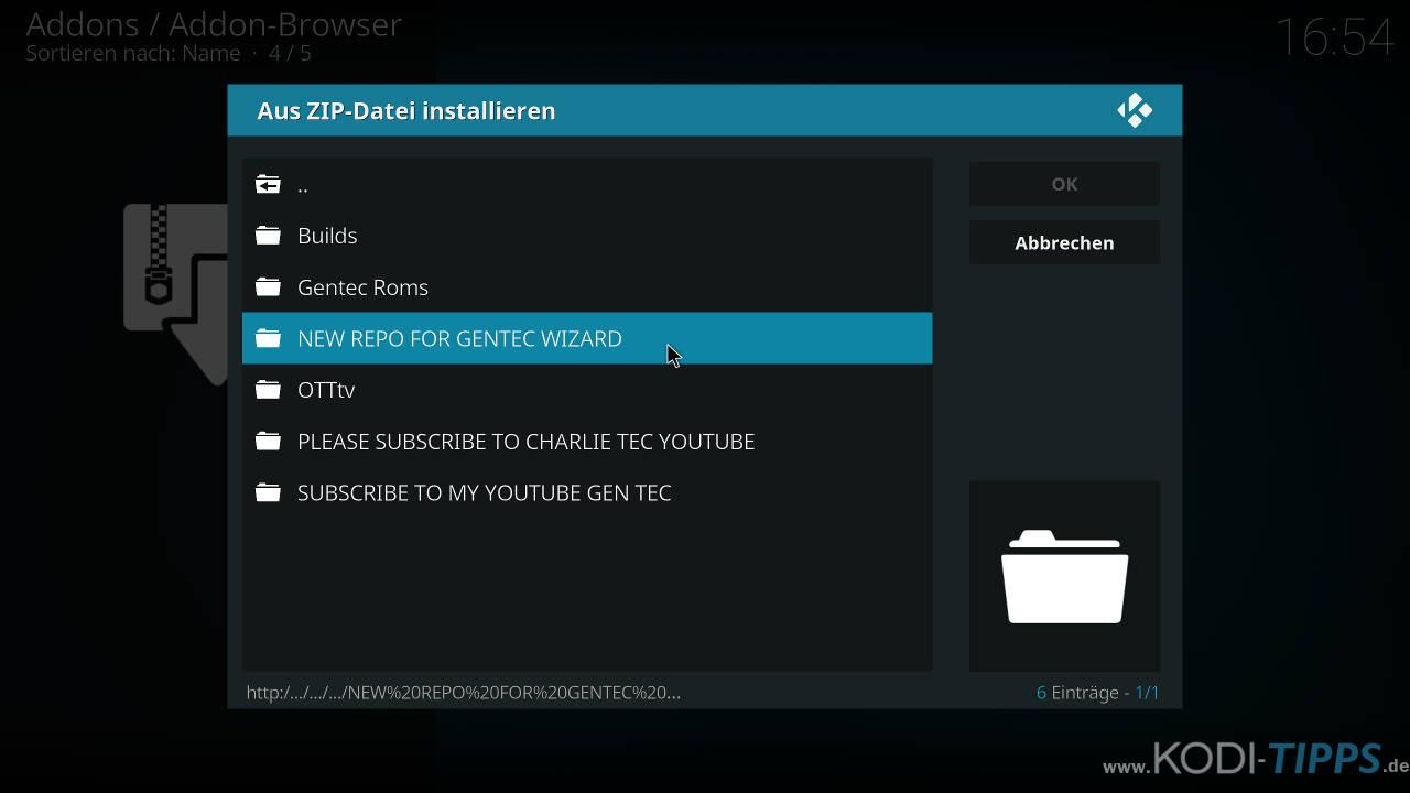 Venom Replay's Kodi Addon installieren - Schritt 2