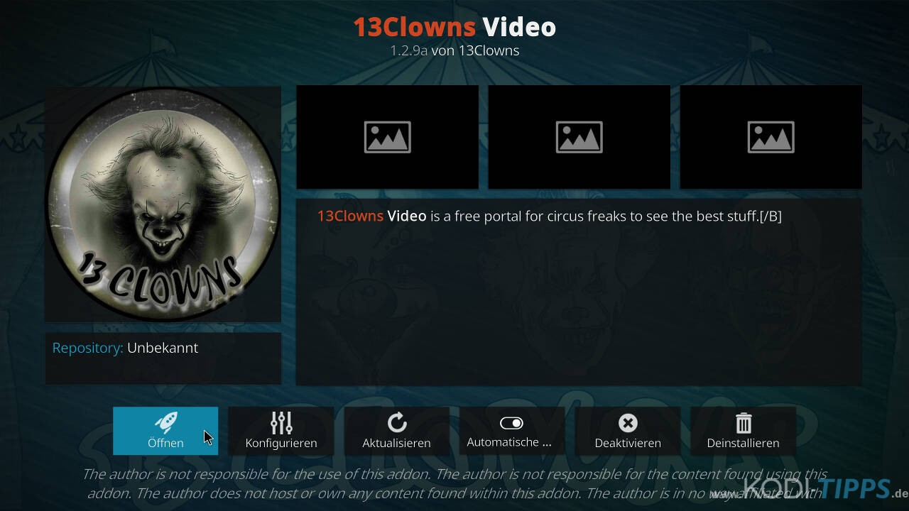 13Clowns Kodi Addon installieren - Schritt 10