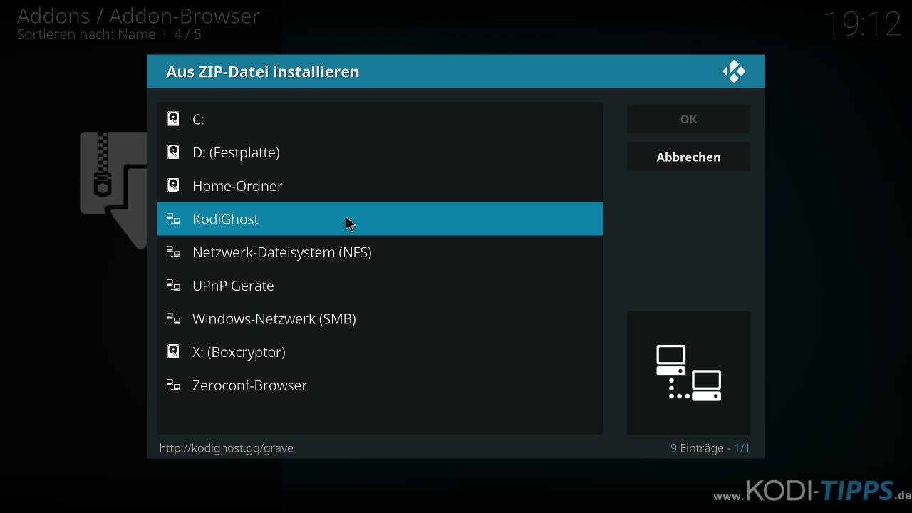 Self Less Live IPTV Kodi Addon installieren - Schritt 1
