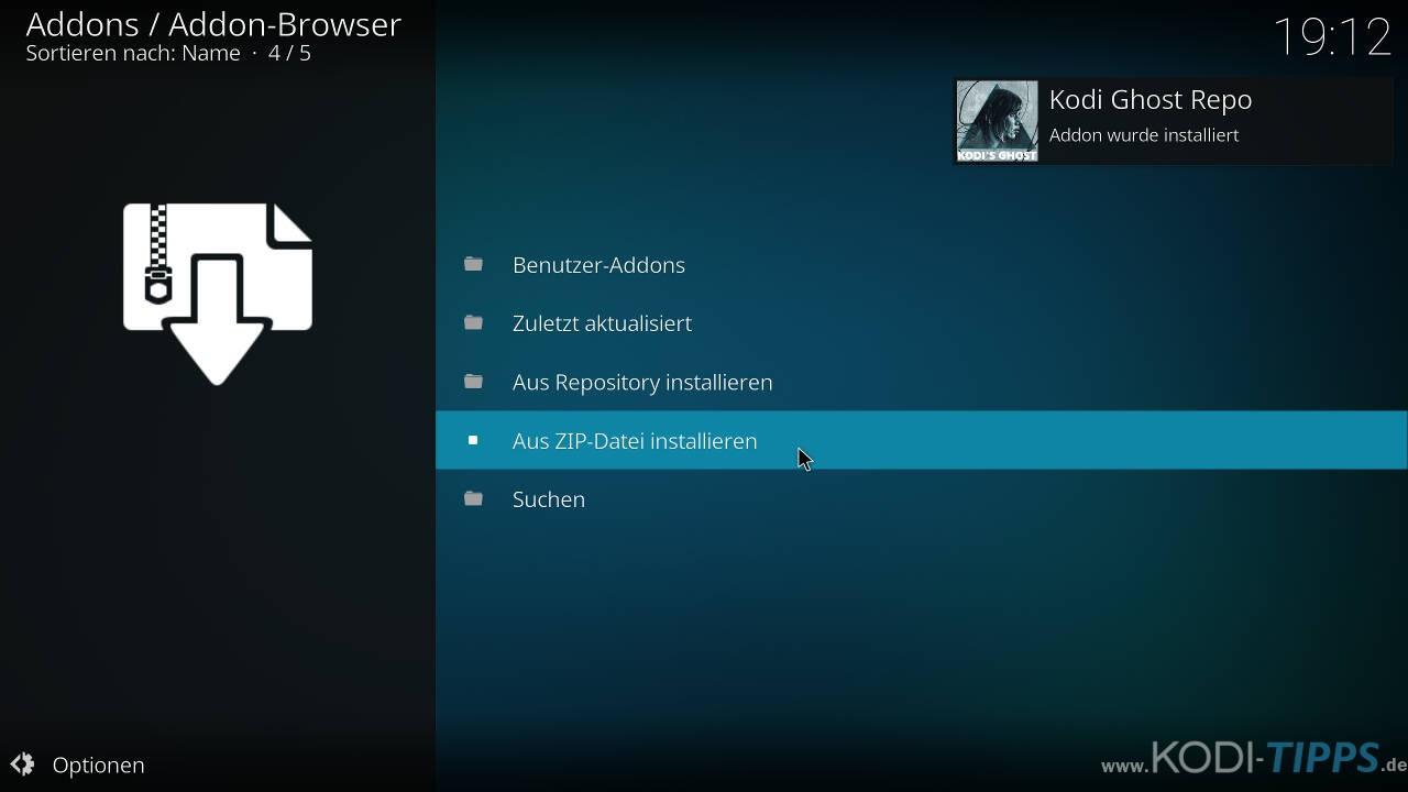 Self Less Live IPTV Kodi Addon installieren - Schritt 3