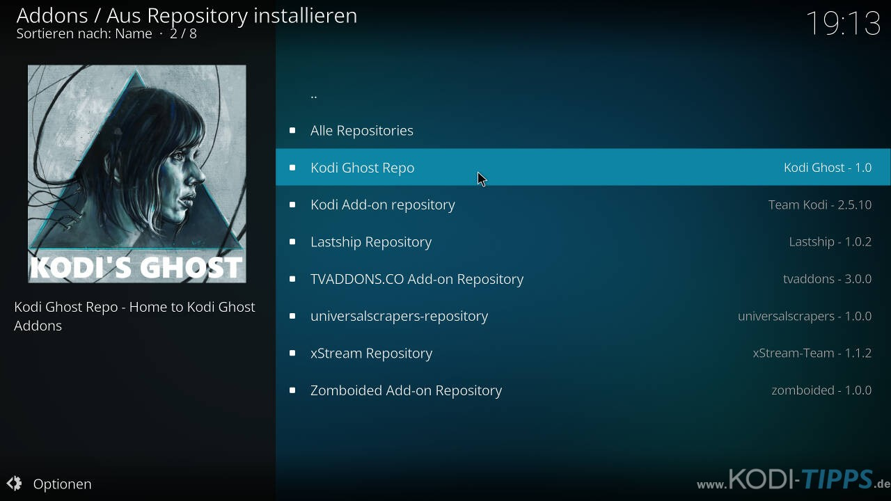 Self Less Live IPTV Kodi Addon installieren - Schritt 5