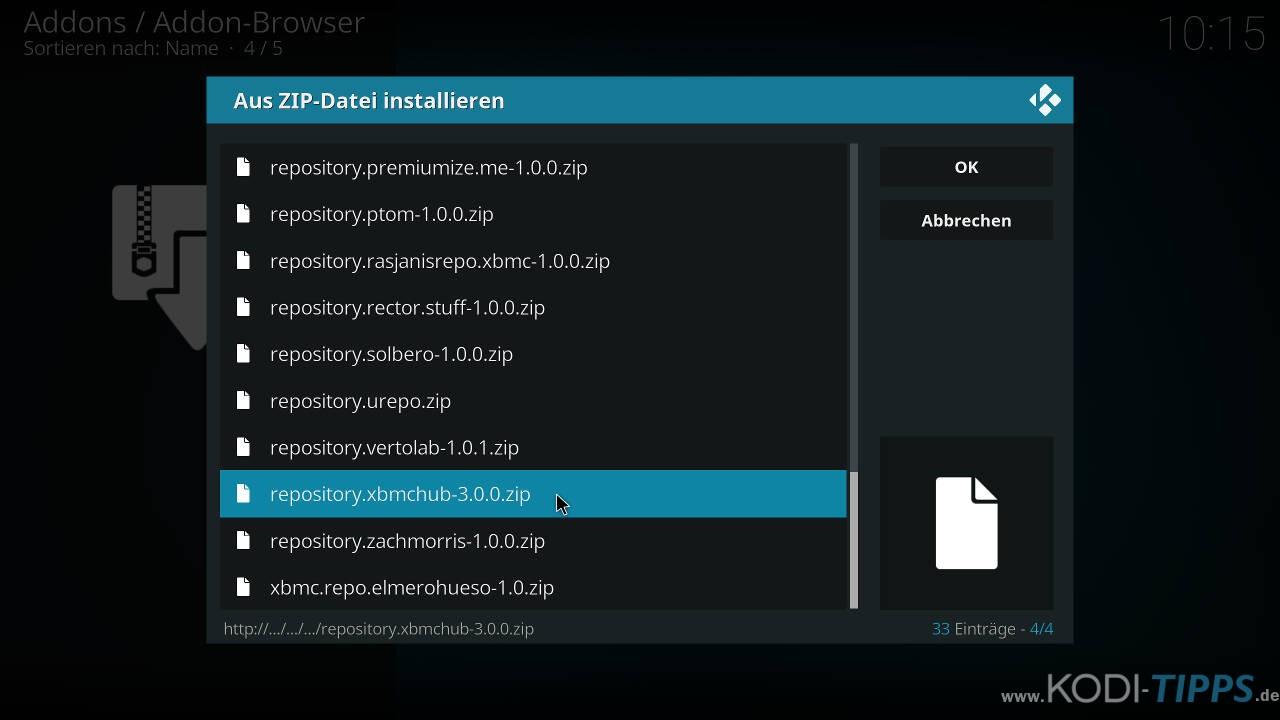 Lastship Kodi Addon OHNE Verschieben einer ZIP-Datei installieren - Schritt 4