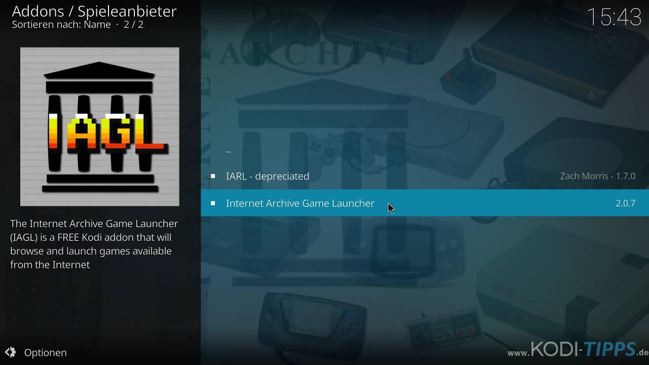 Kodi RetroPlayer - Retro-Spiele mit Kodi spielen - Schritt 10