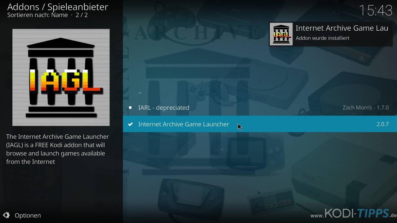 Kodi RetroPlayer - Retro-Spiele mit Kodi spielen - Schritt 13