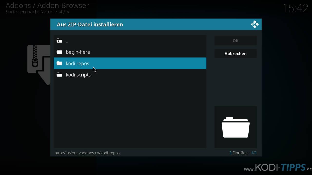 Kodi RetroPlayer - Retro-Spiele mit Kodi spielen - Schritt 2