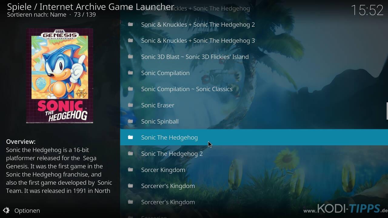 Kodi RetroPlayer - Retro-Spiele mit Kodi spielen - Schritt 38