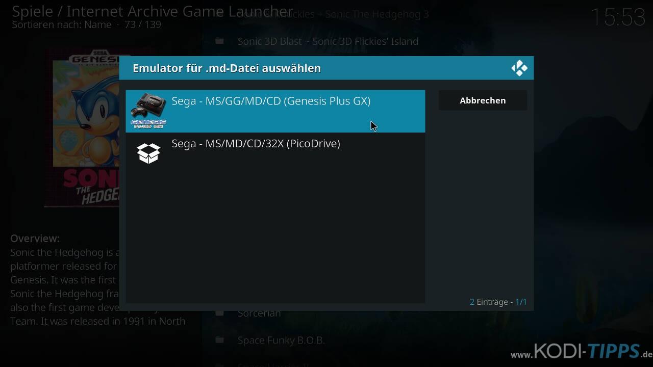 Kodi RetroPlayer - Retro-Spiele mit Kodi spielen - Schritt 41