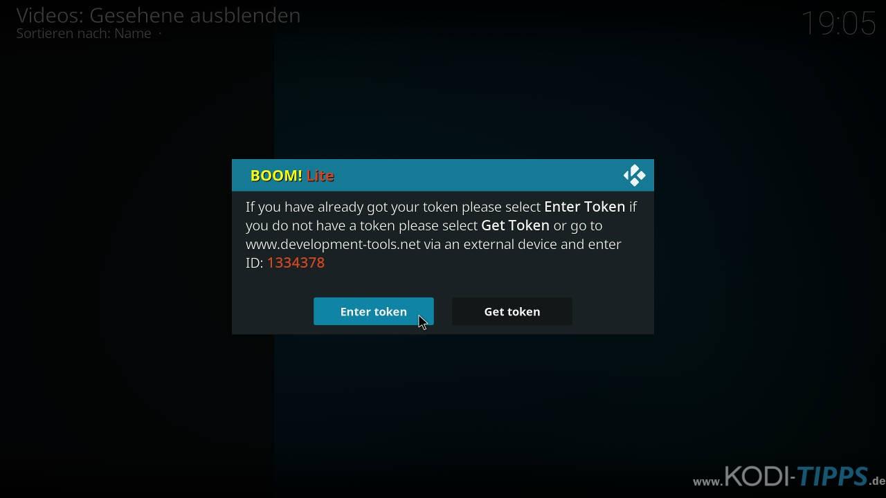 Boom Lite Kodi Addon installieren - Schritt 17