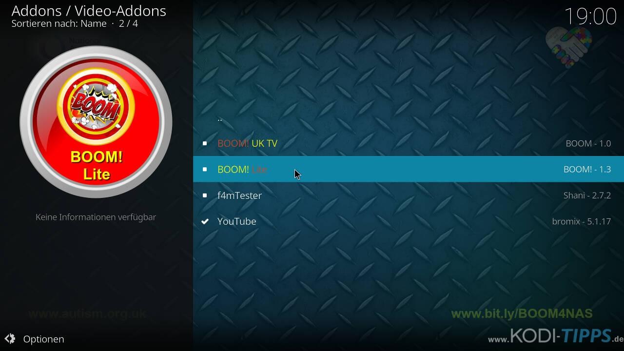 Boom Lite Kodi Addon installieren - Schritt 7