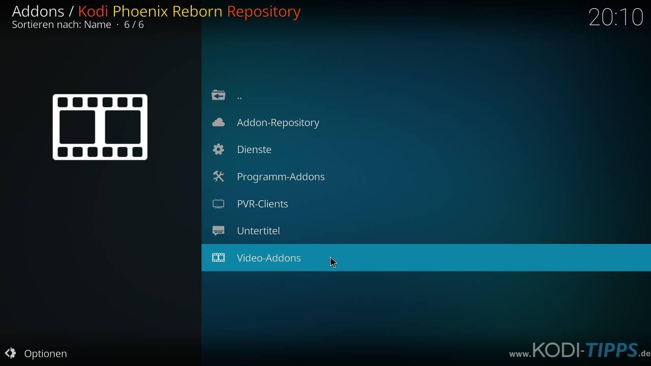 Phoenix Reborn IPTV Kodi Addon installieren - Schritt 6
