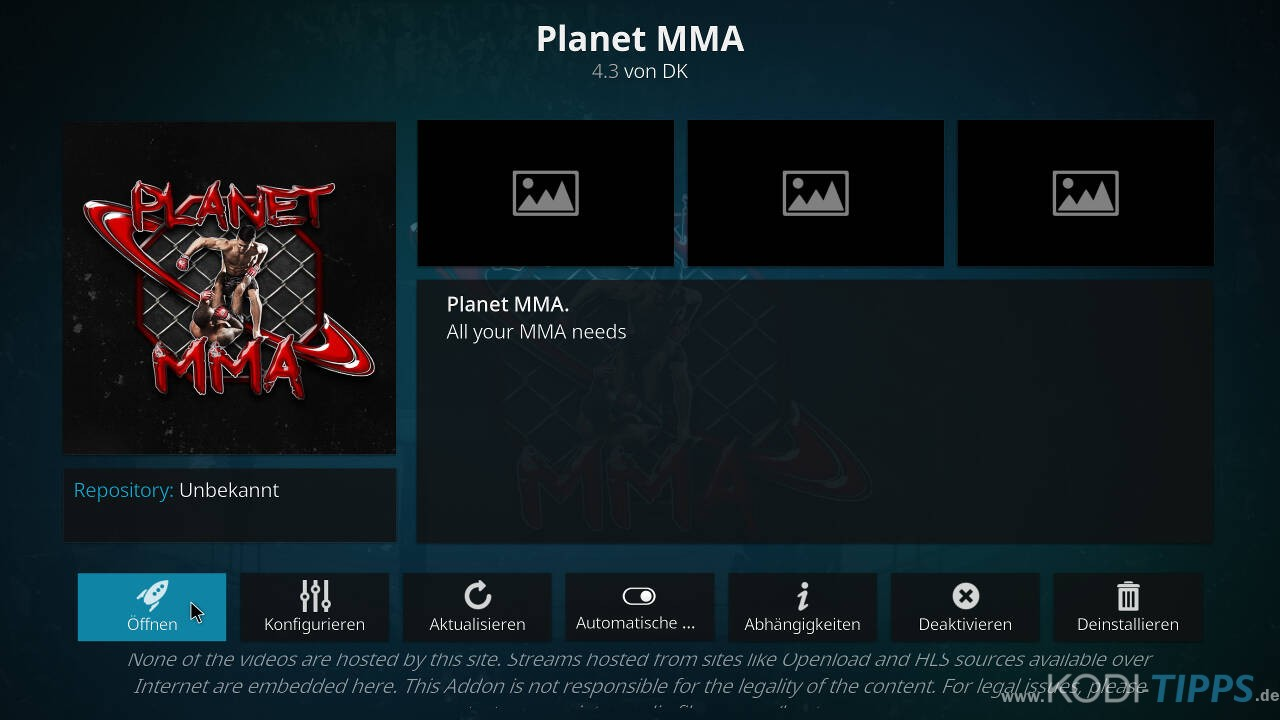 Planet MMA Kodi Addon installieren - Schritt 11