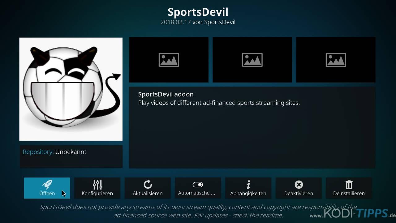 SportsDevil Kodi Addon installieren - Schritt 11