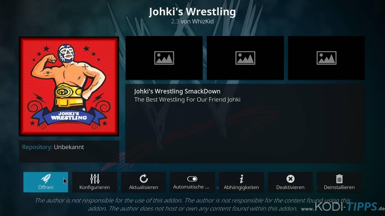 Johkis Wrestling Kodi Addon installieren - Schritt 12