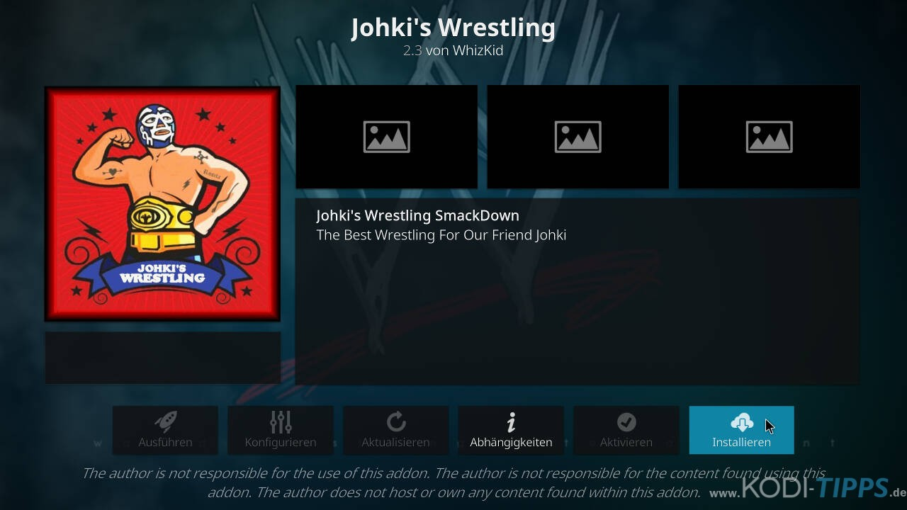 Johkis Wrestling Kodi Addon installieren - Schritt 9