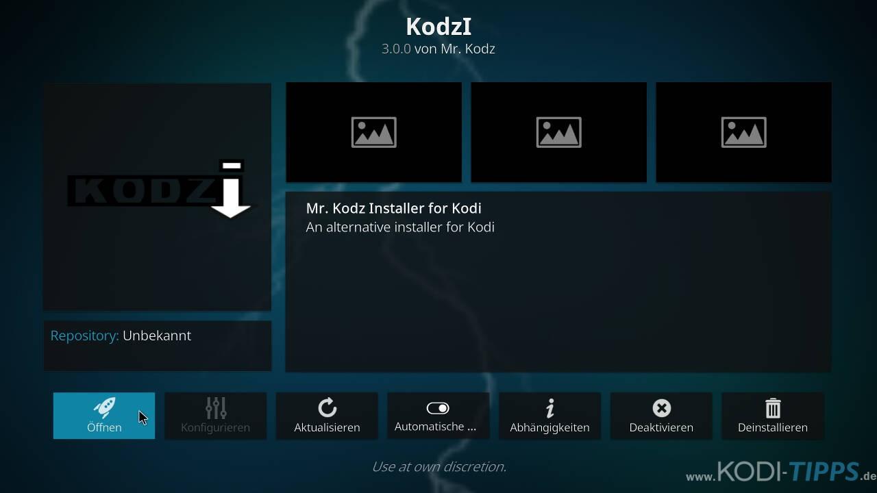 Kodzi Kodi Addon installieren - Schritt 11
